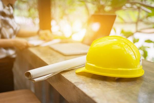 工事用ヘルメットの写真
